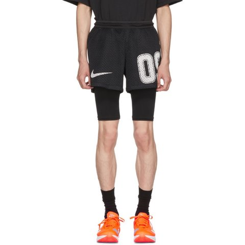 12f2b759c30 Limited edition- Nike x off white soccer shorts in black new - Depop