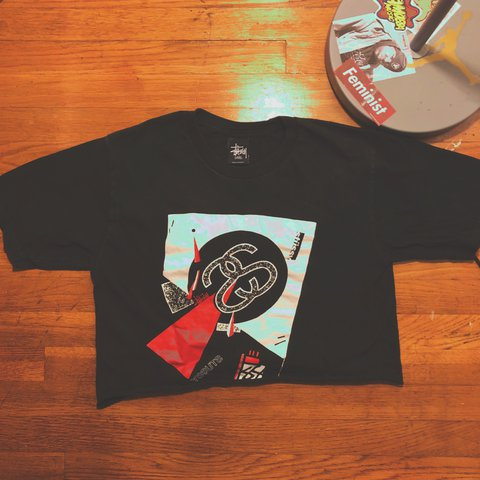 20b3dcf35c462 LAST CHANCE  Vintage Stussy Crop Top T-Shirt Small and is a - Depop