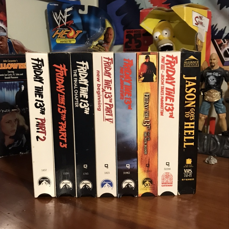 FRIDAY THE 13th classic VHS BUNDLE VHS Tapes for sale - Depop