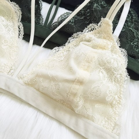 f189befad189e1 NEW WITH TAGS! Ivory Strappy Lace Bralette Summer s bra! - Depop